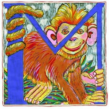 """""""M"""" is for Monkey (7 x 7)"""