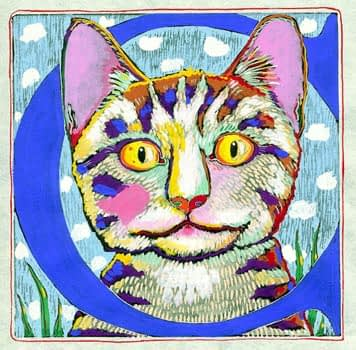 """""""C"""" is for Cat (7 x 7)"""