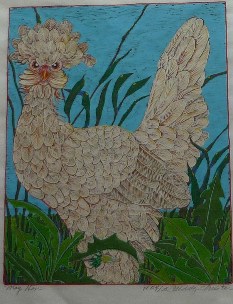 May Hen (12 x 10)