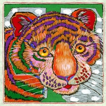 """""""T"""" is for Tiger (7 x 7)"""