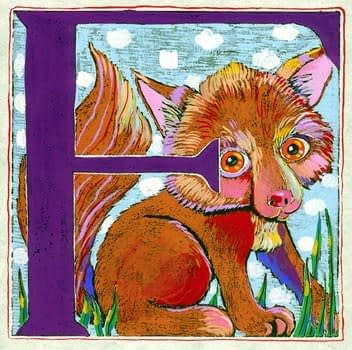 """""""F"""" is for Fox (7 x 7)"""