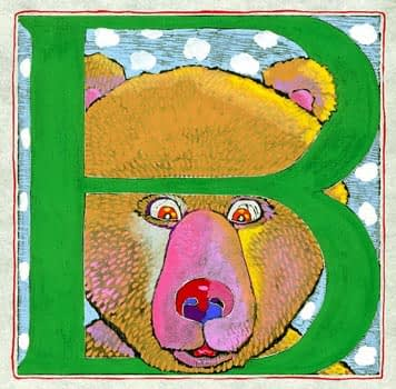 """""""B"""" is for Bear (7 x 7)"""
