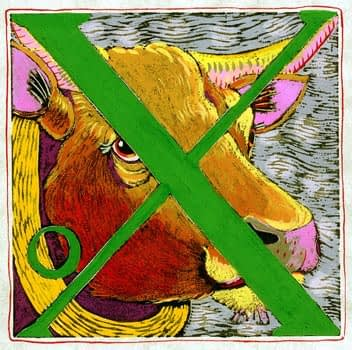 """""""X"""" is for Ox (7 x 7)"""