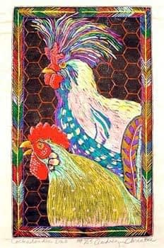 Cock-a-Doodle Duo (13 x 8)