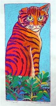 Orange Cat (9-1/2 x 13-3/4)
