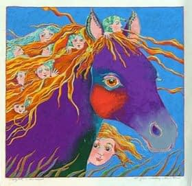 Night Horse (18 x 18)