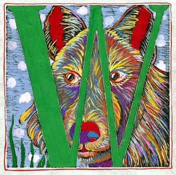 """""""W"""" is for Wolf (7 x 7)"""