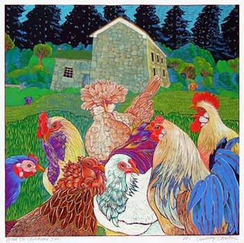What the Chickens See - Closed Edition (20 x 20)