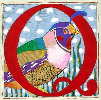"""Q"" is for Quail (7 x 7)"