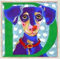 """""""D"""" is for Dog (7 x 7)"""
