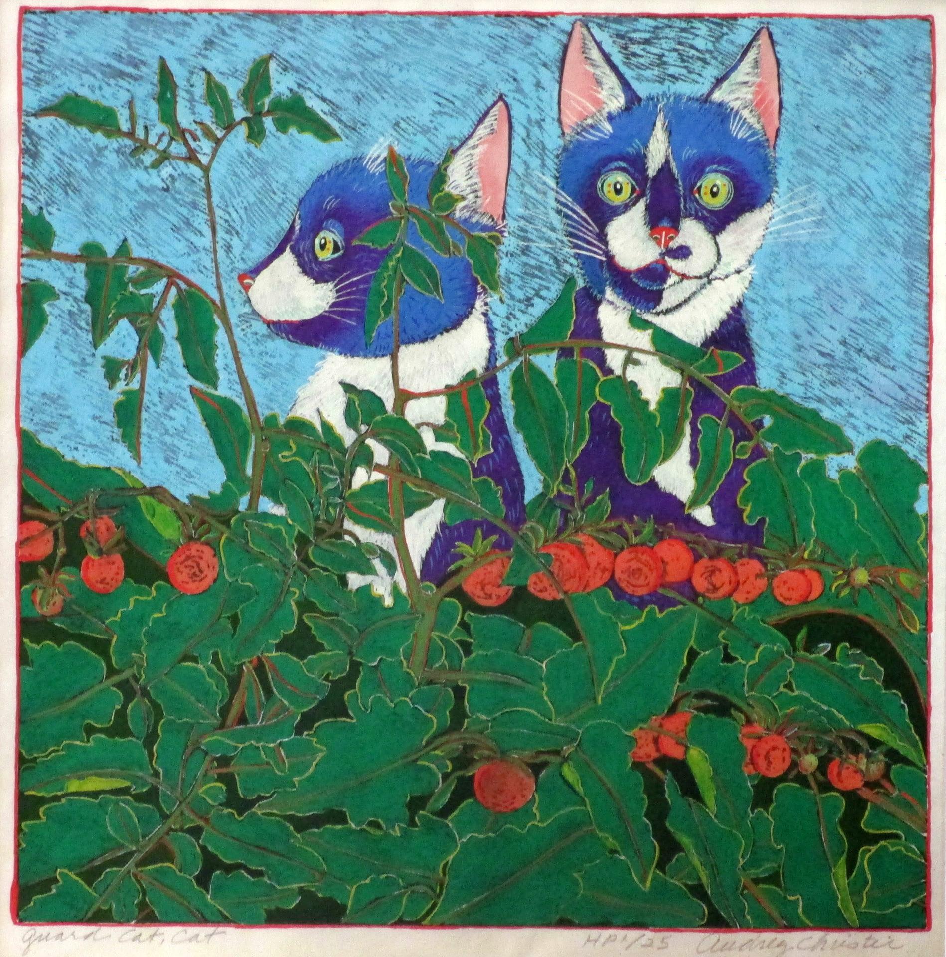 Guard Cat, Cat (12 x 12)