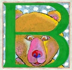 """B"" is for Bear (7 x 7)"