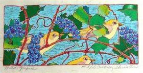 Wild Grapes (9 3/4 x 4 1/2)