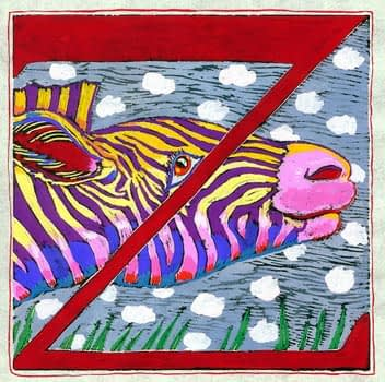 """Z"" is for Zebra (7 x 7)"