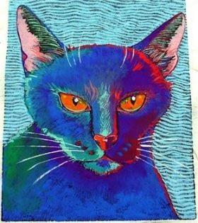 Scary Cat (5-3/4 x 4-1/2)