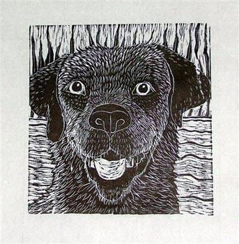 Wet Dog (7 x 7)
