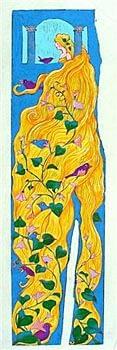 Rapunzel (21-3/4 x 6)