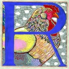 """R"" is for Rooster (7 x 7)"