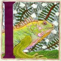 """""""I"""" is for Iguana (7 x 7)"""