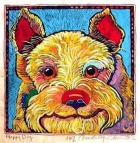 Happy Dog 2 (8 x 8-1/2)