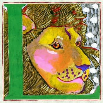 """L"" is for Lion (7 x 7)"