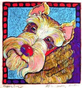 Happy Dog 1 (8 x 8-1/2)