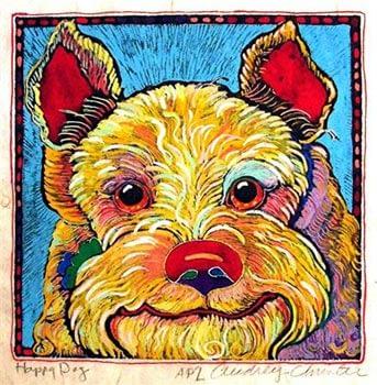 Happy Dog 2 (8 x 8-1/2)