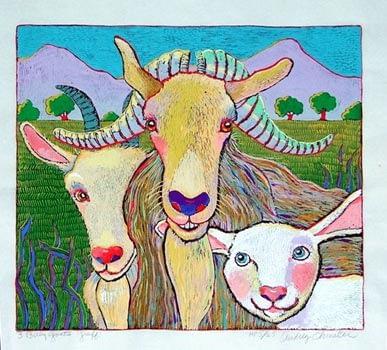 Three Billy Goats Gruff (13-1/2 x 15-1/2)