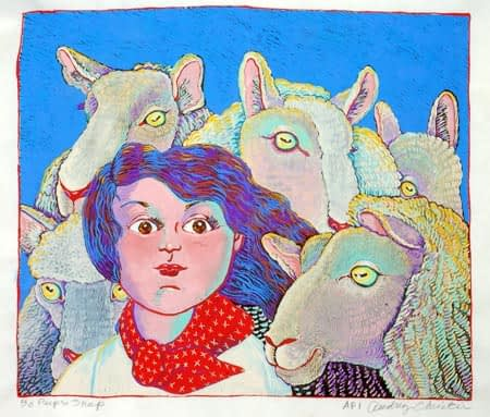 Bo Peep's Sheep (13 x 15)