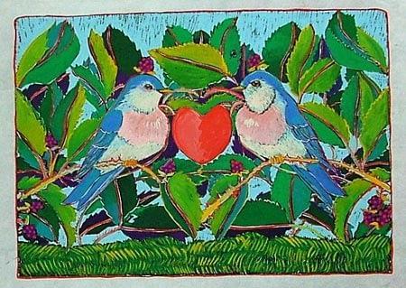 Love Birds (10 x 7-1/2)