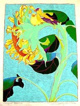 Yellow Sunflower (21 x 15)