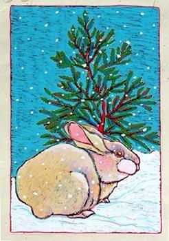 Winter Bunny (12 x 10)