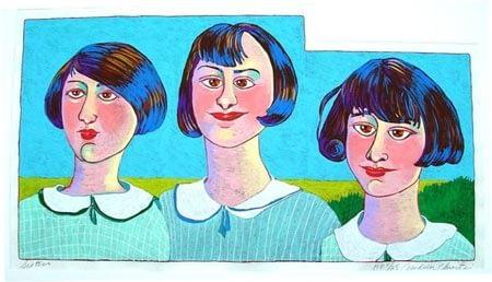 Sisters (22 3/4 x 12 1/2)